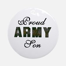 Proud Army Son Ornament (Round)