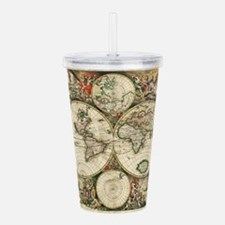 Vintage Map Acrylic Double-wall Tumbler