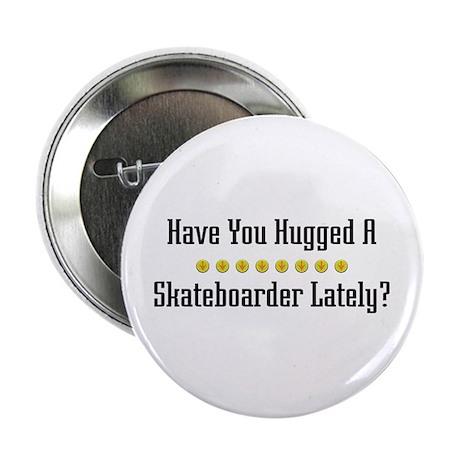 Hugged Skateboarder Button