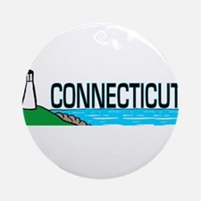 Connecticut Ligthouse Ornament (Round)