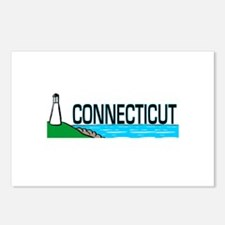 Connecticut Ligthouse Postcards (Package of 8)