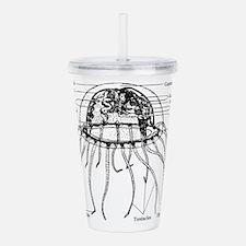 Diagram Of Jellyfish Acrylic Double-wall Tumbler