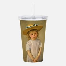 Child In Straw Hat Acrylic Double-wall Tumbler