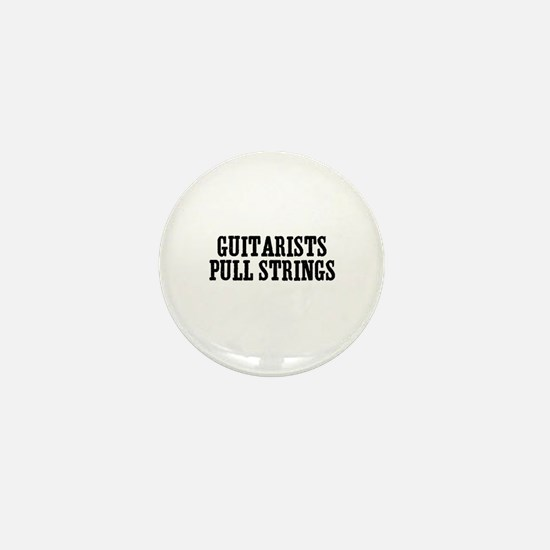 guitarists pull strings Mini Button