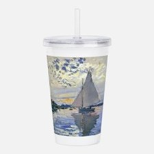 Claude Monet Sailboat Acrylic Double-wall Tumbler