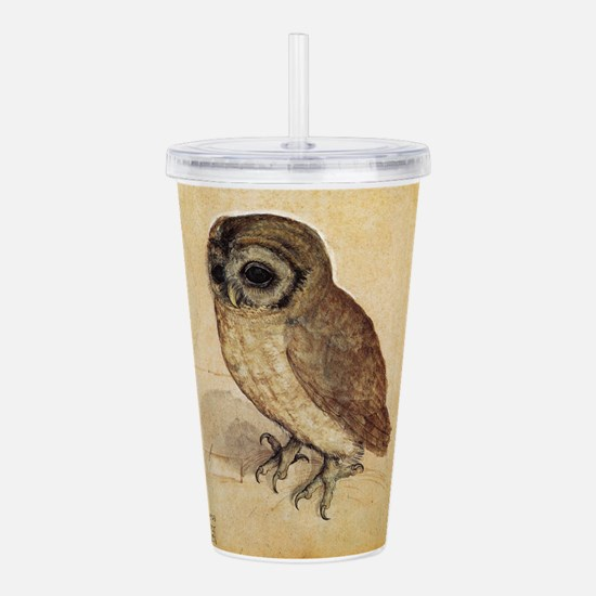 Durer The Little Owl Acrylic Double-wall Tumbler