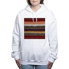 Knitting Stripes Women's Hooded Sweatshirt