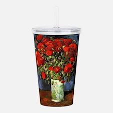Van Gogh Red Poppies Acrylic Double-wall Tumbler
