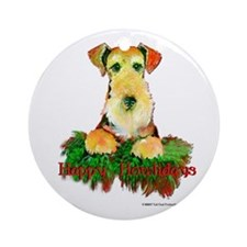 Airedale Holiday Ornament (Round)