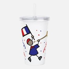 France Holiday Acrylic Double-wall Tumbler
