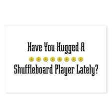 Hugged Shuffleboard Player Postcards (Package of 8