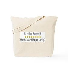 Hugged Shuffleboard Player Tote Bag