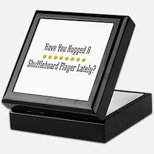 Hugged Shuffleboard Player Keepsake Box
