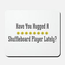 Hugged Shuffleboard Player Mousepad