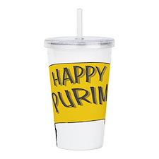 Happy Purim Acrylic Double-wall Tumbler