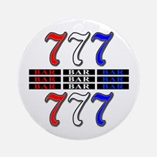 Red, White and Blue Slots Ornament (Round)