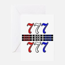 Red, White and Blue Slots Greeting Card