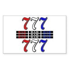 Red, White and Blue Slots Decal