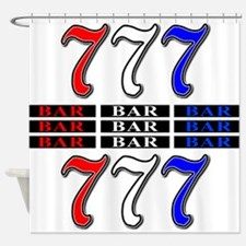 Red, White and Blue Slots Shower Curtain