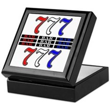 Red, White and Blue Slots Keepsake Box