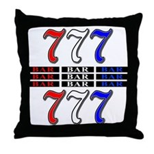 Red, White and Blue Slots Throw Pillow