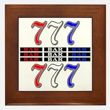 Red, White and Blue Slots Framed Tile