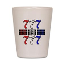 Red, White and Blue Slots Shot Glass