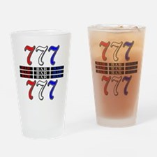 Red, White and Blue Slots Drinking Glass