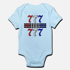 Red, White and Blue Slots Infant Bodysuit