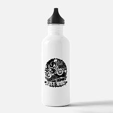 BMX just ride black Water Bottle