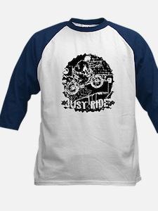 BMX just ride black Kids Baseball Jersey