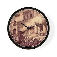 Mark Antony's oration over Caesar's cor Wall Clock