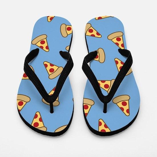 Cute Pizza Pattern Flip Flops