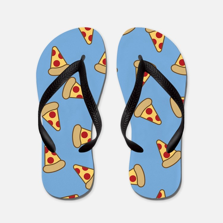 Cute Pizza Pattern Flip Flops