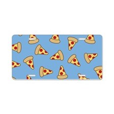 Cute Pizza Pattern Aluminum License Plate