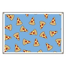 Cute Pizza Pattern Banner