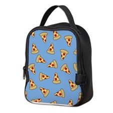 Cute Pizza Pattern Neoprene Lunch Bag