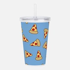 Cute Pizza Pattern Acrylic Double-wall Tumbler