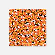 "Candy Corn Pattern Square Sticker 3"" x 3"""