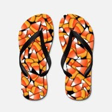 Candy Corn Pattern Flip Flops