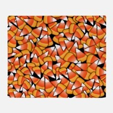 Candy Corn Pattern Throw Blanket