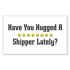Hugged Shipper Rectangle Decal