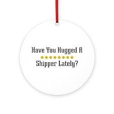 Hugged Shipper Ornament (Round)