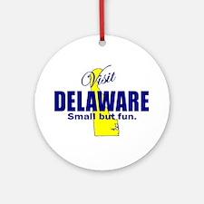 Visit Delaware . . . Small Bu Ornament (Round)