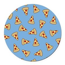 Cute Pizza Pattern Round Car Magnet