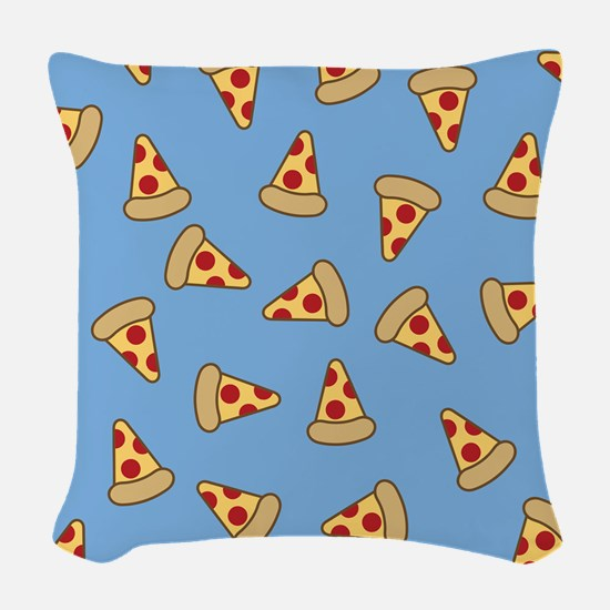 Cute Pizza Pattern Woven Throw Pillow