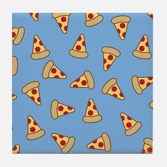 Cute Pizza Pattern Tile Coaster