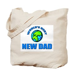 World's Best NEW DAD Tote Bag