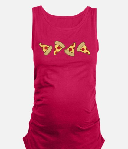 Cute Pizza Slice Maternity Tank Top