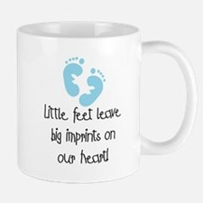 Baby Footprints Blue Mug
